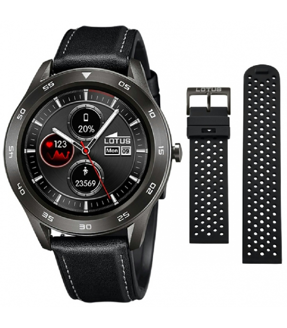 Reloj Lotus SmarTime Piel Negra Silicona Negra - 50012/3