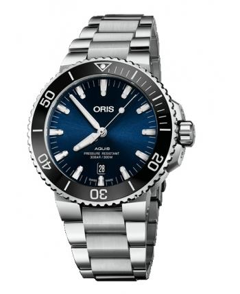 Oris Aquis Date Blue Watch - 73377304135MB