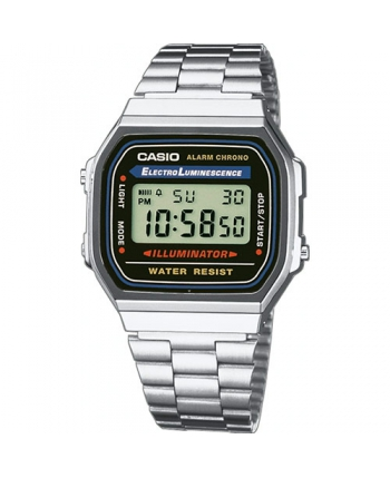 RELOJ CASIO CAB.DIGITAL ACERO - A168WA-1YES