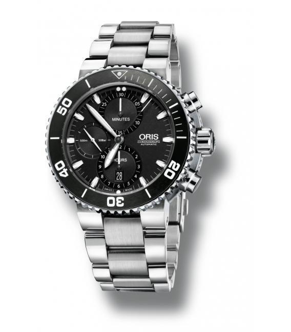 Reloj Oris Aquis Cronógrafo - OR77476554154MB